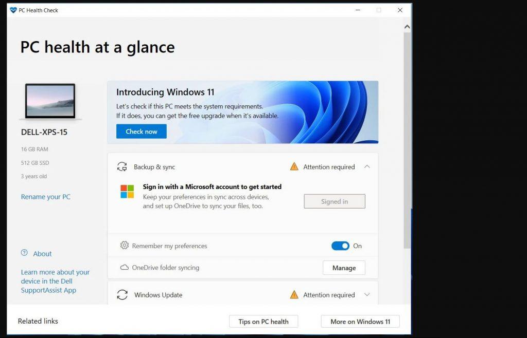 图片[1]-微软发布PC健康检查应用程序,查询检测自己的计算机是否能运行Windows 11-G-Suite